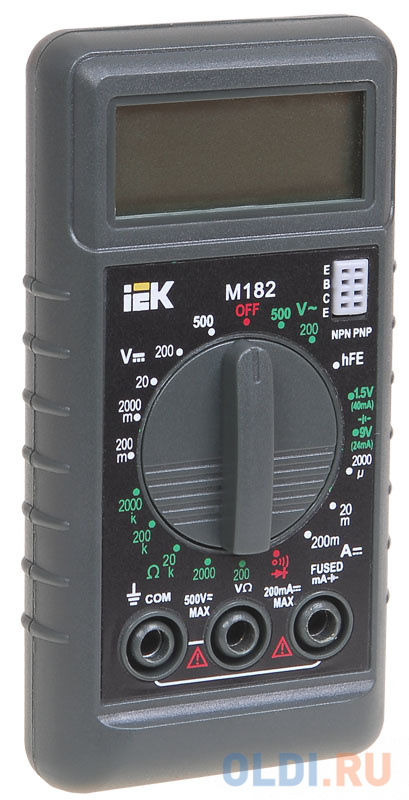 Мультиметр IEK Compact M182 цифровой мультиметр цифровой robiton dmm 200