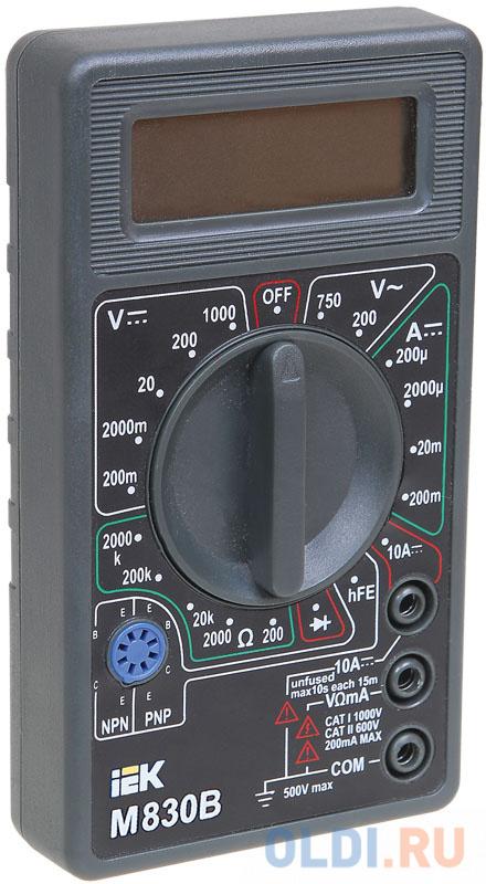 Мультиметр IEK Universal M830B цифровой мультиметр цифровой robiton dmm 200