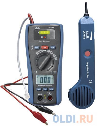 Детектор скрытой проводки СЕМ LA-1014 кабель тестер + мультиметр.