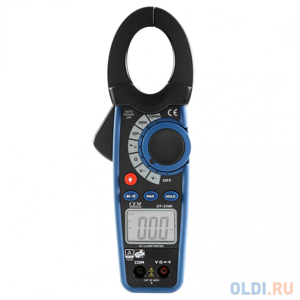 Клещи токоизмерительные CEM DT-3340 профессиональные, с функциями мультиметра клещи cem dt 338 электроизмерительные