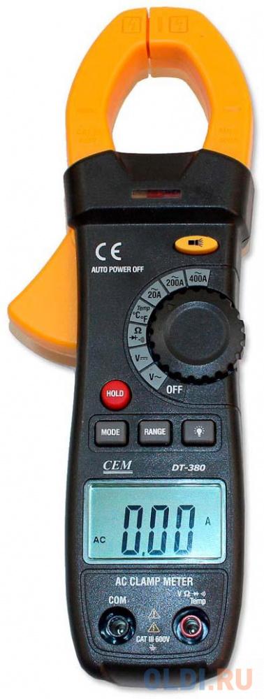 Токовые клещи CEM DT-380 клещи cem dt 338 электроизмерительные