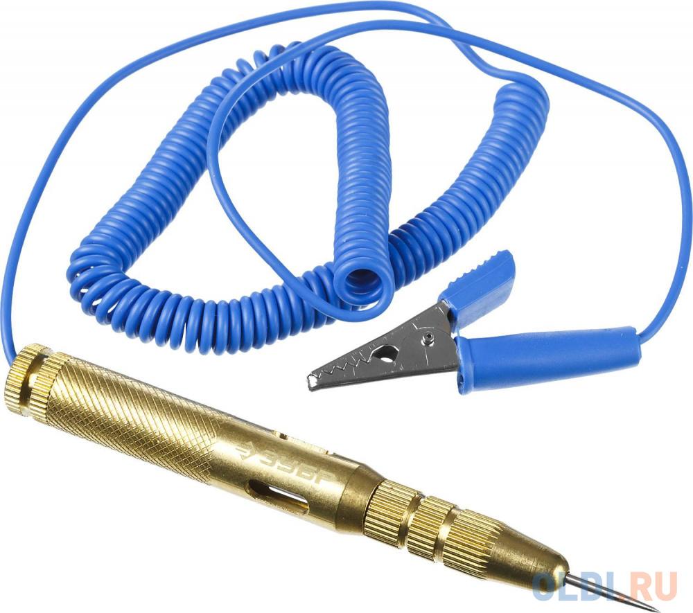 Пробник ЗУБР 25740 эксперт для автопроводки латунный провод 150см 6-24в 115мм