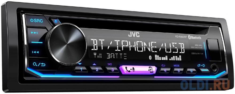 Фото - Автомагнитола CD JVC KD-R992BT 1DIN 4x50Вт автомагнитола jvc kd r487
