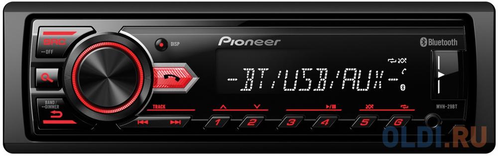 Автомагнитола Pioneer MVH-29BT USB MP3 FM 1DIN 4x50Вт черный автомагнитола pioneer mvh s110ub 1din 4x50вт