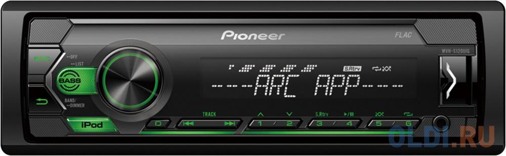 Автомагнитола Pioneer MVH-S120UIG 1DIN 4x50Вт автомагнитола pioneer mvh s110ub 1din 4x50вт