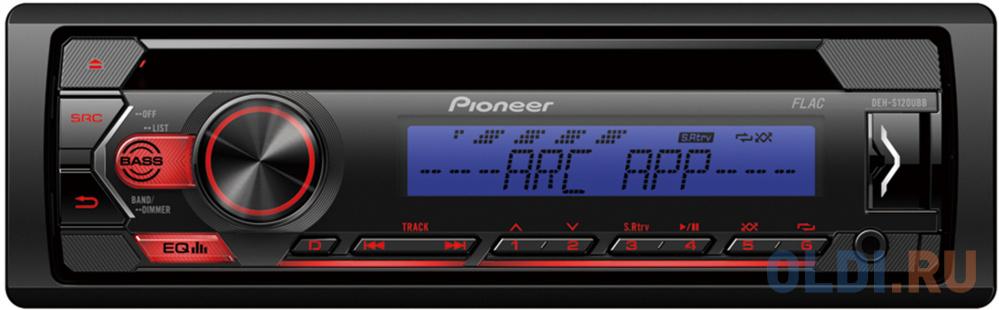 Автомагнитола CD Pioneer DEH-S120UBB 1DIN 4x50Вт автомагнитола pioneer mvh s110ub 1din 4x50вт