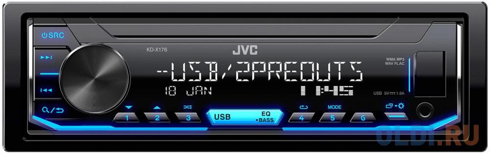 Фото - Автомагнитола JVC KD-X176 1DIN 4x50Вт автомагнитола jvc kd r487