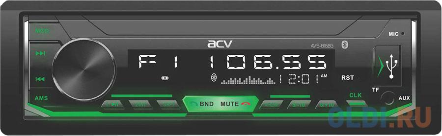 Автомагнитола ACV AVS-816BG 1DIN 4x50Вт автомагнитола acv avs 812r 1din 4x50вт