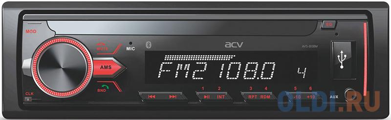 Автомагнитола ACV AVS-813BM 1DIN 4x50Вт автомагнитола acv avs 812r 1din 4x50вт