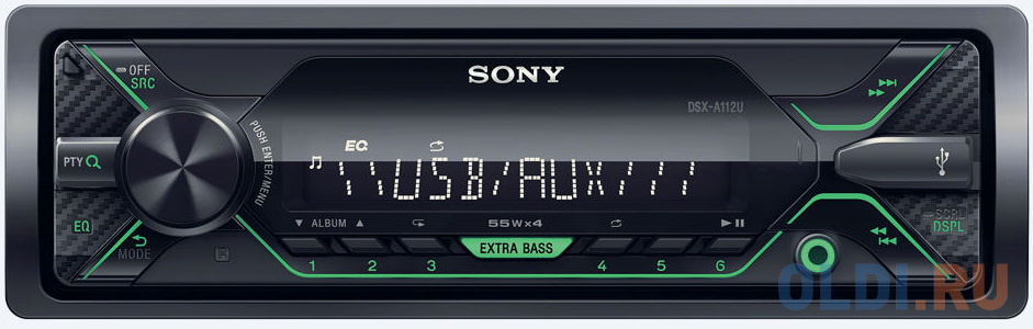 Автомагнитола SONY DSX-A112U USB MP3 FM RDS 1DIN 4x55Вт черный фото