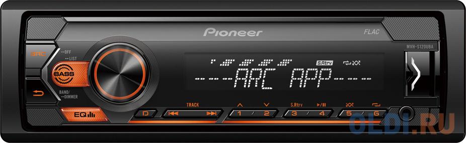 Автомагнитола Pioneer MVH-S120UBA 1DIN 4x50Вт автомагнитола pioneer mvh s110ub 1din 4x50вт