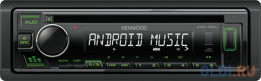 Автомагнитола CD Kenwood KDC-130UG 1DIN 4x50Вт фото