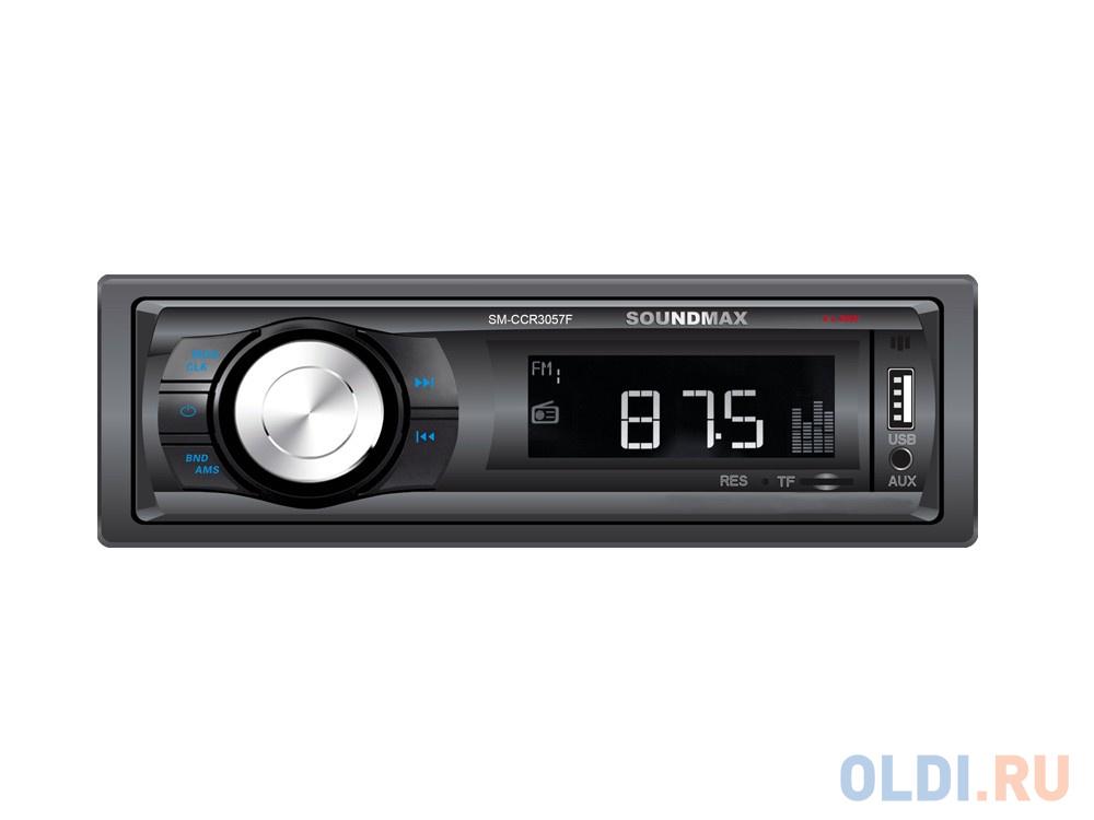 Автомагнитола Soundmax SM-CCR3057F USB MP3 microSD 1DIN 4x40Вт черный