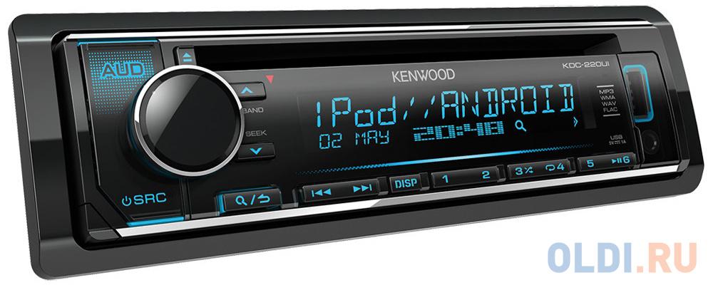 Автомагнитола Kenwood KDC-220UI USB MP3 CD FM RDS 1DIN 4х50Вт черный.