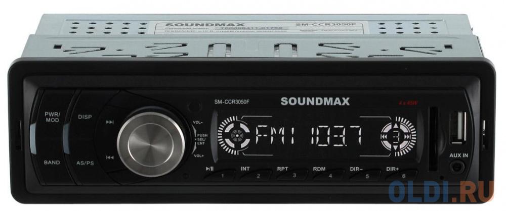 Автомагнитола Soundmax SM-CCR3050F USB MP3 FM SD MMC 1DIN 4x45Вт черный