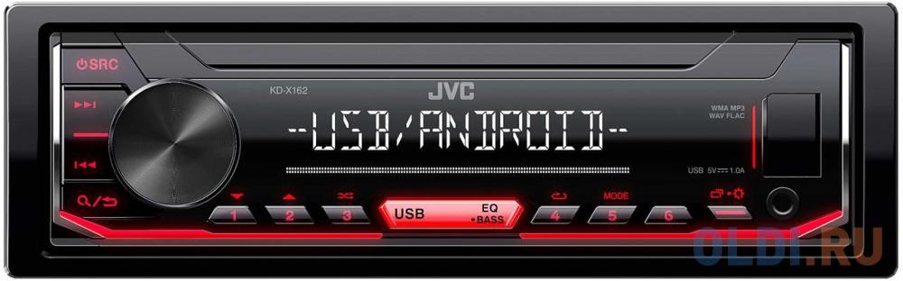 Автомагнитола JVC KD-X162 1DIN 4x50Вт