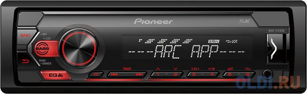 Автомагнитола Pioneer MVH-S120UB 1DIN 4x50Вт автомагнитола pioneer mvh s110ub 1din 4x50вт