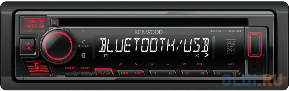 Автомагнитола CD Kenwood KDC-BT440U 1DIN 4x50Вт.