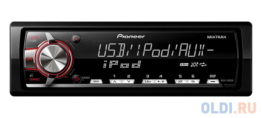 Автомагнитола Pioneer MVH-X460UI бездисковая USB MP3 FM RDS 1DIN 4x50Вт черный автомагнитола pioneer mvh s110ub 1din 4x50вт