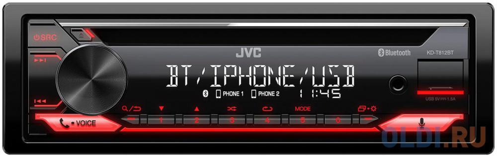 Фото - Автомагнитола CD JVC KD-T812BT 1DIN 4x50Вт автомагнитола jvc kd r487