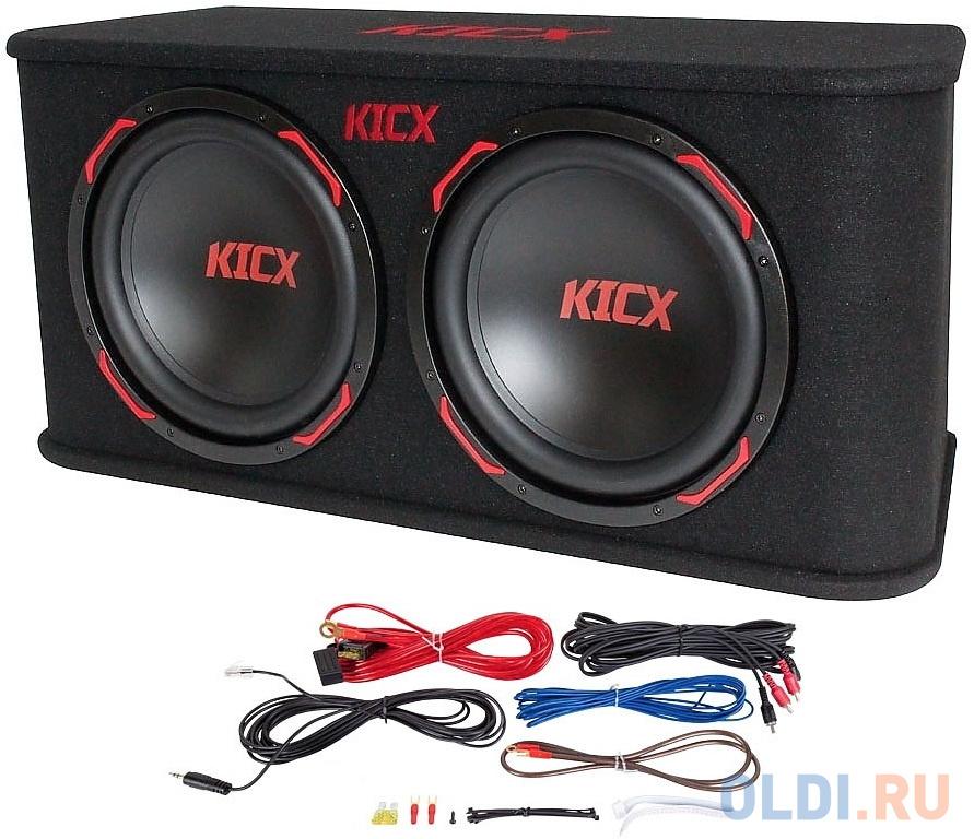 Сабвуфер автомобильный Kicx GT2200BA 600Вт активный (30см/12) автомобильный усилитель 2 канала kicx qs 2 160m