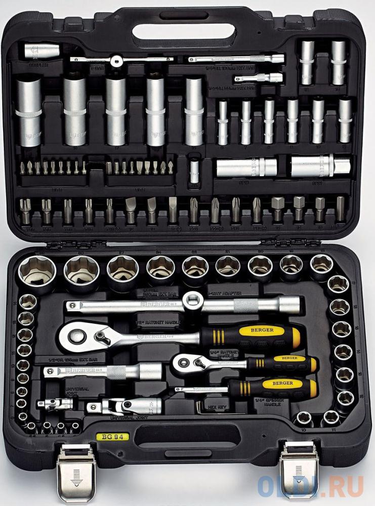 Фото - Набор инструментов BERGER BG094-1214 94 предмета набор инструментов berger bg042 12 42 предмета