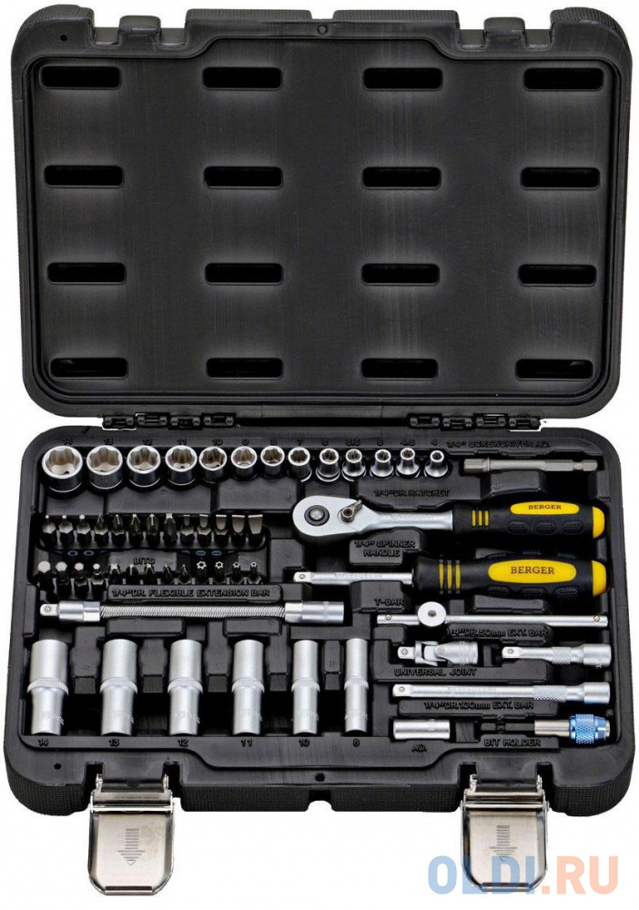 Фото - Набор инструментов BERGER BG055-14 55 предметов набор инструментов для замены колес 5 предметов berger bg2154