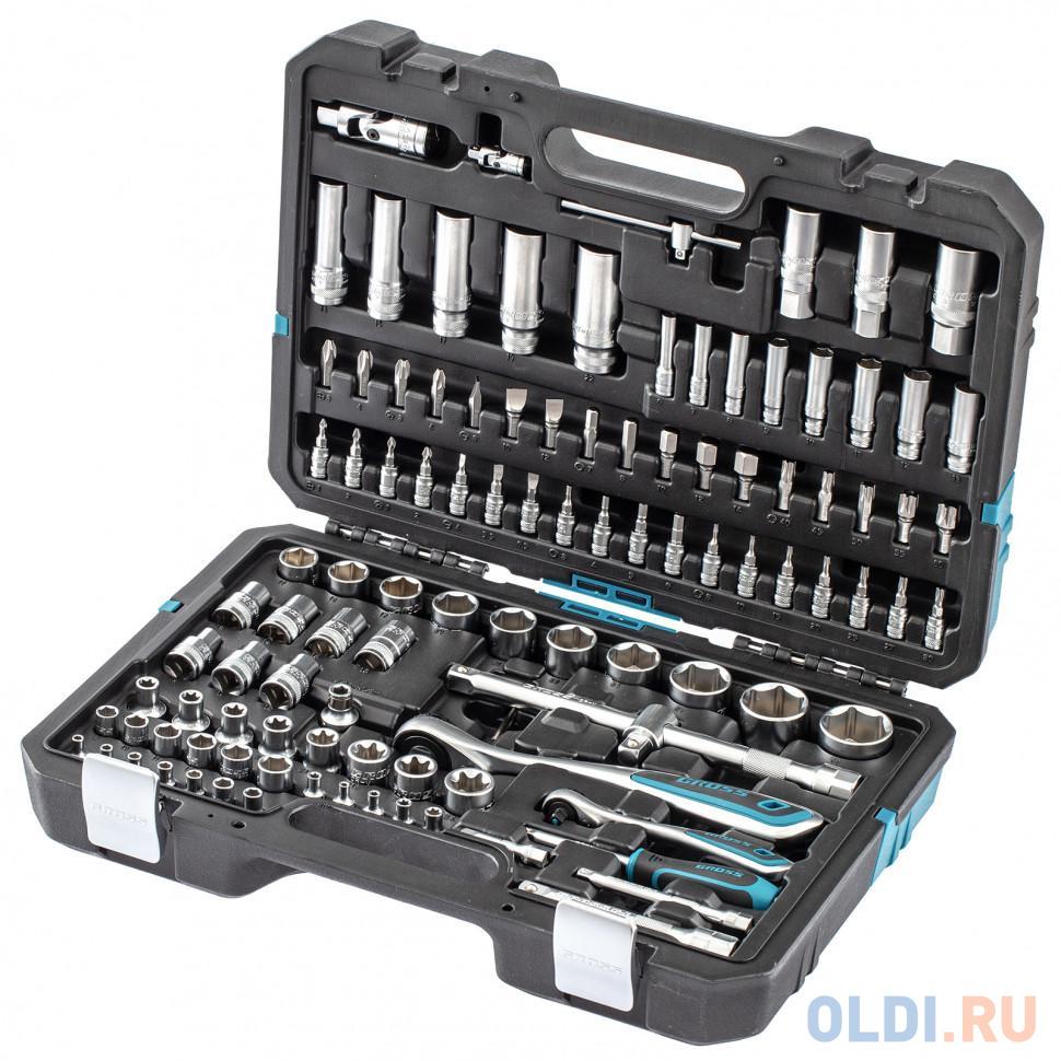 Набор инструментов 109 предметов 120 зубьев CrV 1/4 1/2// Gross.