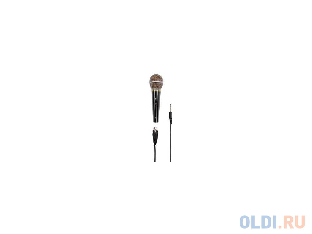 Микрофон Hama DM60 H-46060 6.3 мм + адаптер 6.3/3.5 мм 3.0м черный микрофон для ноутбука hama h 57152 00057152 черный