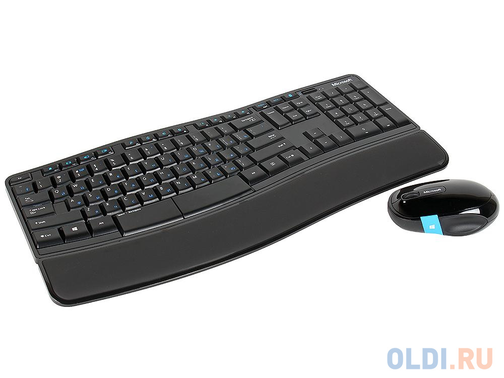 Клавиатура + мышь Microsoft (L3V-00017) клав:черный мышь:черный/синий USB беспроводная клавиатура мышь microsoft sculpt ergonomic desktop multimedia ergo black usb l5v 00017