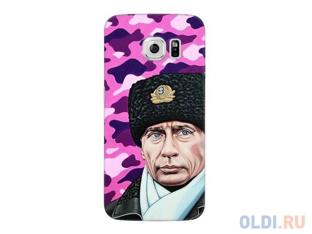 Фото - Чехол Deppa Art Case и защитная пленка для Samsung Galaxy S6 edge, Person_Путин шапка, чехол pure case и защитная пленка для samsung galaxy s6 edge с защитным нанесением hard coating прозрачный 69012