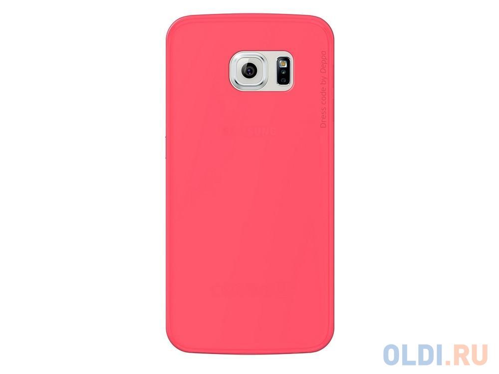 Фото - Чехол Deppa Sky Case и защитная пленка для Samsung Galaxy S6 edge коралловый 86045 чехол pure case и защитная пленка для samsung galaxy s6 edge с защитным нанесением hard coating прозрачный 69012