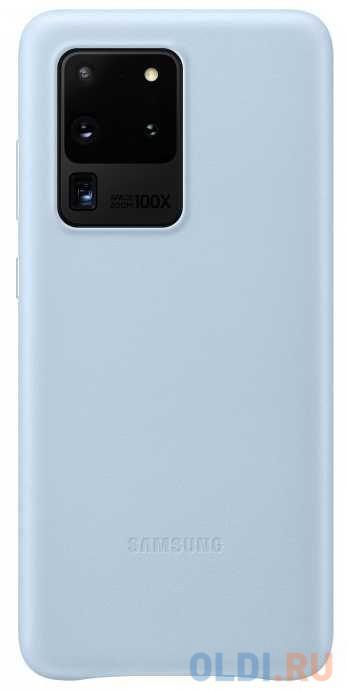 Фото - Чехол (клип-кейс) Samsung для Samsung Galaxy S20 Ultra Leather Cover голубой (EF-VG988LLEGRU) чехол клип кейс samsung s20 g980 clearview l blue ef zg980clegru