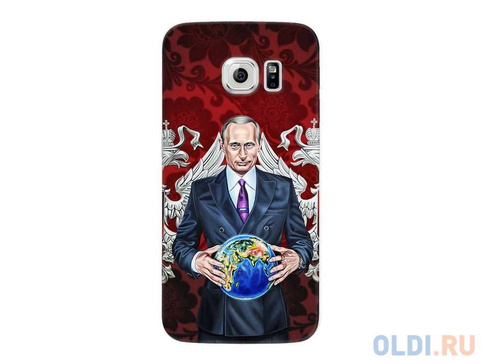 Фото - Чехол Deppa Art Case и защитная пленка для Samsung Galaxy S6 edge, Person_Путин карта мира, чехол pure case и защитная пленка для samsung galaxy s6 edge с защитным нанесением hard coating прозрачный 69012