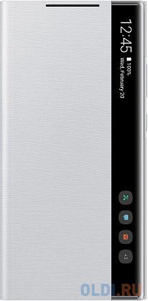 Чехол (флип-кейс) Samsung для Samsung Galaxy Note 20 Ultra Smart Clear View Cover серебристый (EF-ZN985CSEGRU) чехол флип кейс samsung led view cover для samsung galaxy note 8 фиолетовый [ef nn950pvegru]