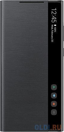 Чехол (флип-кейс) Samsung для Samsung Galaxy Note 20 Smart Clear View Cover черный (EF-ZN980CBEGRU) чехол флип кейс samsung led view cover для samsung galaxy note 8 фиолетовый [ef nn950pvegru]