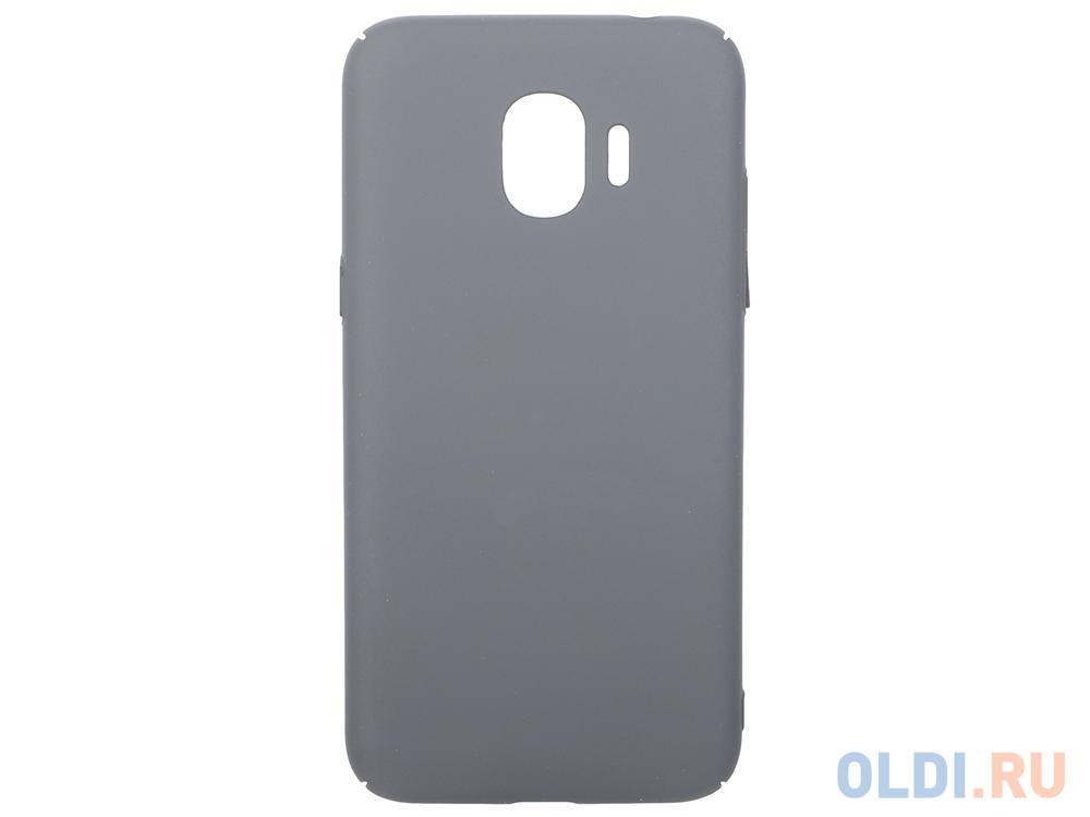 Чехол soft-touch для Samsung Galaxy J2 (2018)/J2 Pro (2018) DF sSlim-34 (charcoal grey) чехол накладка araree gp j250kdcp для samsung galaxy j2 2018 j2 pro 2018 синий
