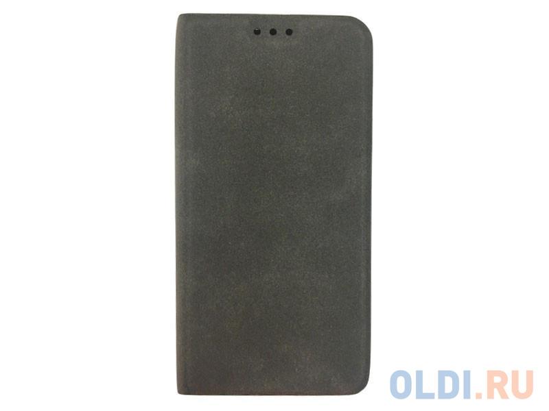 Чехол Book Case для Samsung Galaxy A8, экозамша, серый, BoraSCO