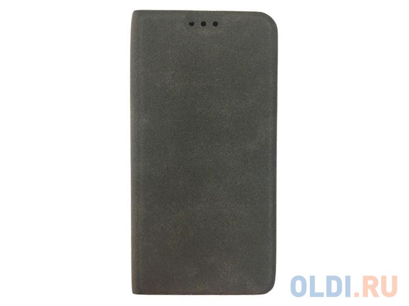 Чехол Book Case для Samsung Galaxy A6, экозамша, серый, BoraSCO