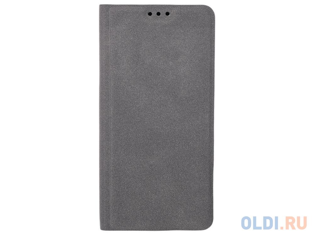 Чехол Book Case для Samsung Galaxy J6 экозамша серый, BoraSCO