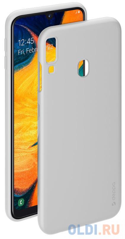 Чехол-накладка для Samsung Galaxy A30/A20 (2019) Deppa Gel Color Case White чехол deppa gel color case для samsung galaxy a30 a20 2019 синий