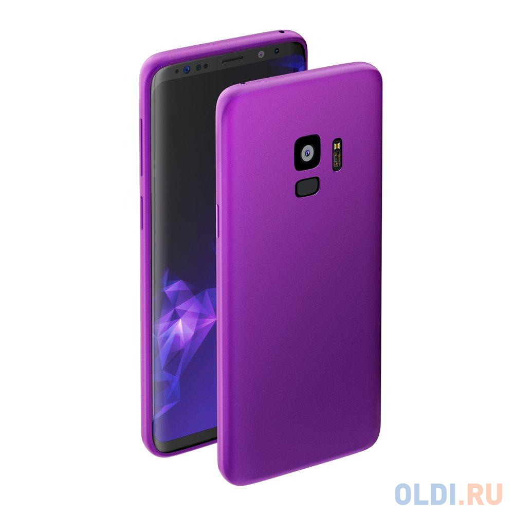 Чехол Deppa Case Silk для Samsung Galaxy S9, фиолетовый металлик чехол deppa silk для samsung galaxy s9 purple