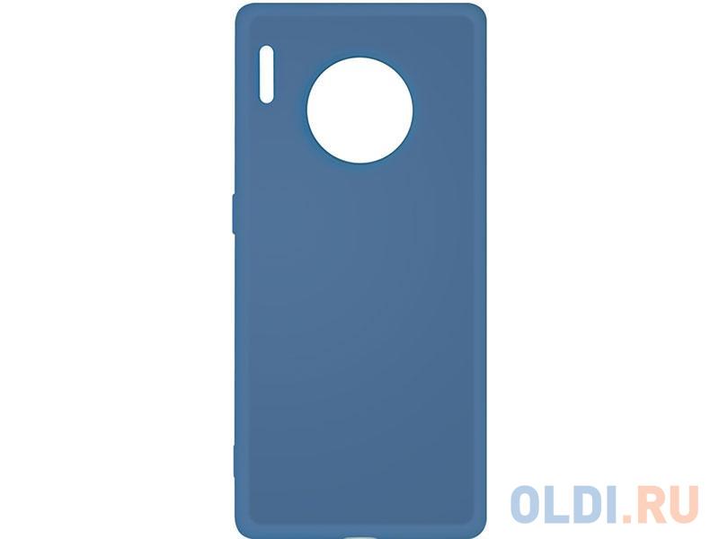 Чехол-накладка для Huawei Mate 30 Pro DF hwOriginal-06 Blue клип-кейс, силикон, микрофибра