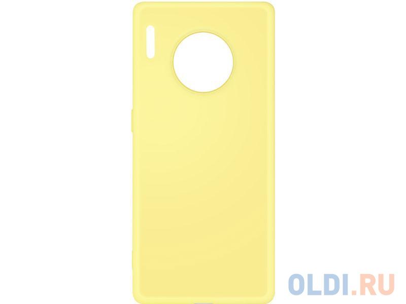 Чехол-накладка для Huawei Mate 30 Pro DF hwOriginal-06 Yellow клип-кейс, силикон, микрофибра
