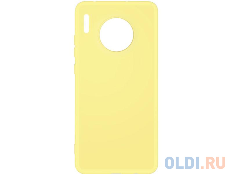 Чехол-накладка для Huawei Mate 30 DF hwOriginal-05 Yellow клип-кейс, силикон, микрофибра