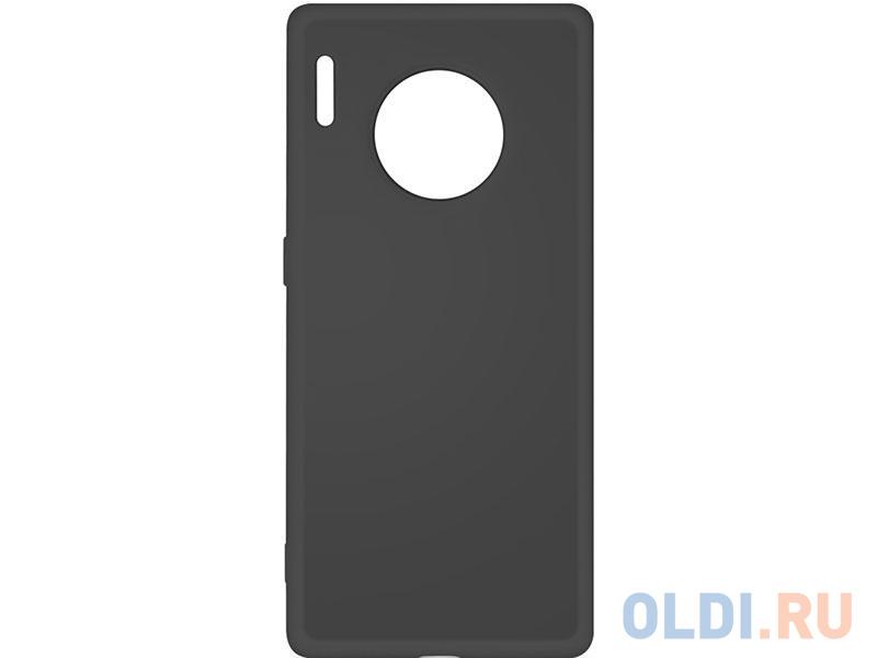 Чехол-накладка для Huawei Mate 30 Pro DF hwOriginal-06 Black клип-кейс, силикон, микрофибра
