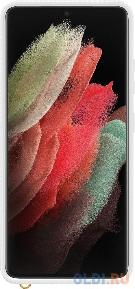 Фото - Чехол (клип-кейс) Samsung для Samsung Galaxy S21 Ultra Protective Standing Cover прозрачный/белый (EF-GG998CWEGRU) чехол клип кейс samsung galaxy note 20 ultra silicone cover белый ef pn985twegru