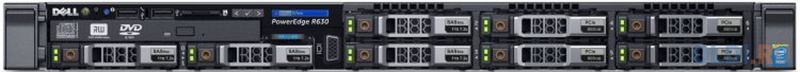 Сервер Dell PowerEdge R630 Base 8x2.5, NO (CPU, Memory, HDD), H730p/2GB NV, DVDRW, 4x1GbE, iDRAC8 Ent, (1)x750W (upto2), Bezel/Rails/CMA, 3y PS NBD сервер dell poweredge r240 1xe 2236 x4 1x4tb 7 2k 3 5 sata rw h330 id9en 1g 2p 1x250w 3y nbd rails per240ru2 1
