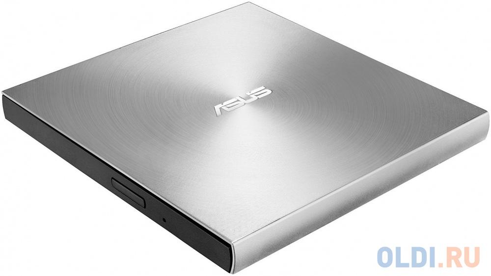 Внешний привод DVD±RW ASUS SDRW-08U9M-U/SIL/G/AS/P2G USB 2.0 серебристый Retail