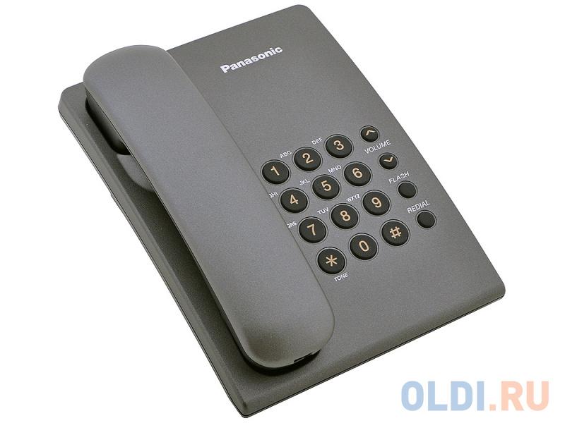 Телефон Panasonic KX-TS2350RUT титан.